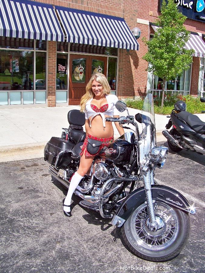These are pictures and videos from the first ever Tilted Kilt Bike show at Seven Bridges in Woodridge.  There were 5 classes in which bikes could win a plaque.  They were American Made, Import, Custom, Chopper and the Ladies Choice award.  As a first show we had somwhere around 100 bikes/motorcycles with the ladies taking pictures while posing around and on all of them!  Check them out, we hope you like them.  If you would like any full size Hi Resolution pictures or the video, contact the author or owner of each site profile for copies of the originals.