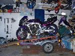1993 GSXR 750 on the trailer